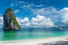 Heavenly place in the photo - submit an island Royalty Free Stock Image