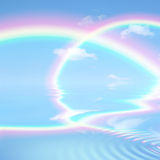 Heavenly Rainbow Beauty Stock Photography