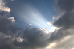 Heavenly ray of light Royalty Free Stock Photography