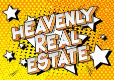 Heavenly Real Estate - Comic book style words. stock illustration
