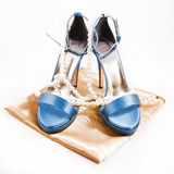 Heavenly shoes. Isolated on a white background stock photos
