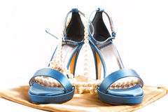 Heavenly shoes. Isolated on a white background stock photography