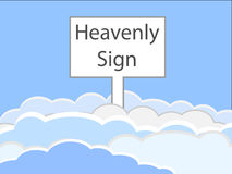 Heavenly sign Stock Images