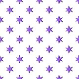 Heavenly six pointed star pattern, cartoon style Royalty Free Stock Photo