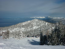 Heavenly ski area. The view from Heavenly ski area in Lake Tahoe Royalty Free Stock Images