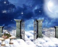 Heavenly skies stock images