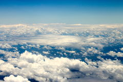Heavenly Skies. Cloudscape taken from above from airplane Royalty Free Stock Photo