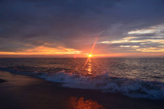 Heavenly Skies and Serene Seas at Dawn Royalty Free Stock Photo