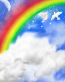 Heavenly sky stock illustration