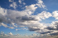 Heavenly sky. Cloud filled firmament, a breath of freedom and space Royalty Free Stock Images