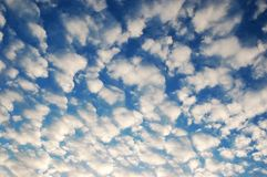 Heavenly Sky. A Beautiful blue sky filled with lots of white fluffy clouds Stock Photos