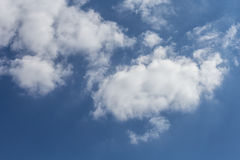Heavenly sky. Beautiful white clouds in the sky Royalty Free Stock Photo