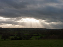 Heavenly Sky over the vale of dedham essex Royalty Free Stock Photography