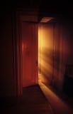 Heavenly strålar av lampa Arkivbilder