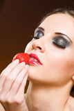 Heavenly strawberry. Royalty Free Stock Images