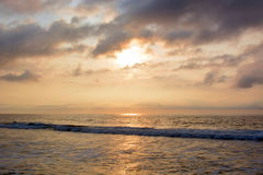Heavenly Summer Sunrise Over Ocean Stock Photography