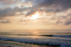 Heavenly Summer Sunrise Over Ocean Royalty Free Stock Images