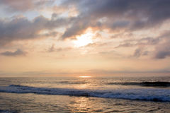 Heavenly Summer Sunrise Over Ocean Royalty Free Stock Photography