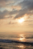Heavenly Summer Sunrise Over Ocean. A heavenly summer seashore sunrise over the ocean Royalty Free Stock Photos