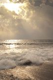 Heavenly sunlight on the waves Stock Photography