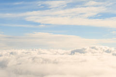 Heavenly view high above the sky clouds Royalty Free Stock Photo