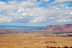 Heavenly  view of plains and plateaus of Arizona Stock Photography