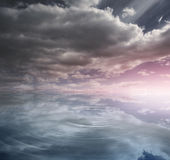 Heavenly water and sky Stock Photography