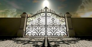 Heavens Closed Ornate Gates Royalty Free Stock Photo