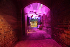 Heavens Cloth in an alleyway during Vivid Sydney Stock Photos