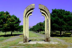 Heavens gate. Sculpture representing the astral gate Royalty Free Stock Photo