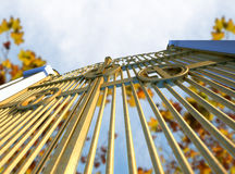 Heavens Golden Gates And Autumn Leaves Stock Photography