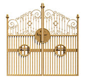 Heavens Golden Gates Isolated Royalty Free Stock Images
