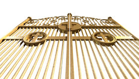 Heavens Golden Gates Isolated Stock Photography