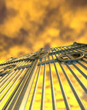 Heavens Golden Gates And Yellow Sky Royalty Free Stock Images