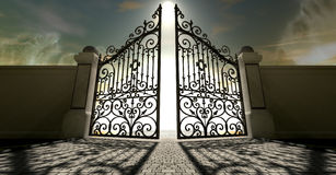 Heavens Open Ornate Gates Royalty Free Stock Photography