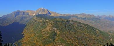 Heavens Peak and McDonald Creek Valley Royalty Free Stock Images