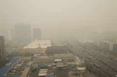 Heavier haze around Beijing Stock Photos