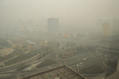 Heavier haze around Beijing 2 Royalty Free Stock Photography