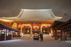 The heaviest snow in decades in Tokyo Royalty Free Stock Image