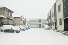 The heaviest snow in decades in Tokyo and other areas of Japan Royalty Free Stock Images