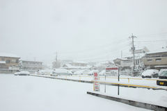The heaviest snow in decades in Tokyo and other areas of Japan Stock Photos