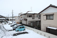 The heaviest snow in decades in Tokyo and other areas of Japan Stock Photo