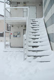 The heaviest snow in decades in Tokyo and other areas of Japan Stock Images