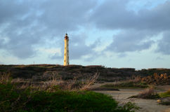Heavily Clouded Skies Around the Lighthouse in Aruba Royalty Free Stock Image