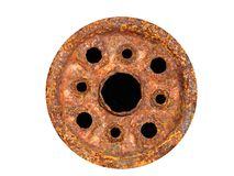 Heavily Corroded Wheel Stock Photo