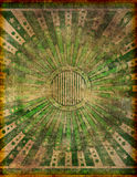Heavily Damaged and Faded Retro Grunge Design Royalty Free Stock Photos