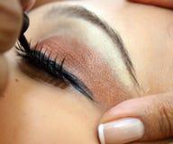 Heavily made-up female eye Stock Photo