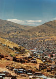 Heavily populated highland. City of Puno, Peru stock photo