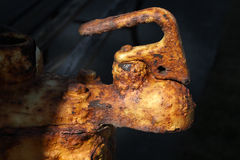 Heavily rusted steel. Stock Photo