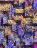 Heavily Textured Abstract Painting Royalty Free Stock Photography